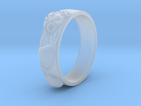 Sea Shell Ring 1 - US-Size 8 (18.19 mm) in Smoothest Fine Detail Plastic
