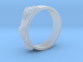 Sea Shell Ring 1 - US-Size 6 1/2 (16.92 mm) in Smooth Fine Detail Plastic