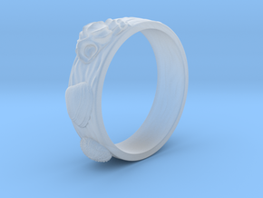 Sea Shell Ring 1 - US-Size 5 1/2 (16.10mm) in Smoothest Fine Detail Plastic