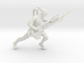 Coma Doof Warrior pendant in White Natural Versatile Plastic