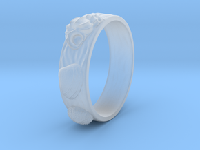 Sea Shell Ring 1 - US-Size 9 (18.89 mm) in Smooth Fine Detail Plastic