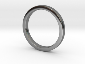 Wedding Band or everyday ring; 2.5mm size 7 in Fine Detail Polished Silver