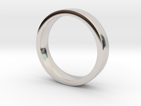 Wedding Band or everyday ring; 4mm size 7 in Platinum