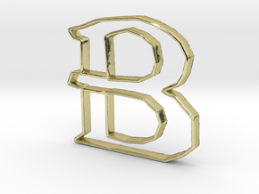 Typography Pendant B in 18k Gold