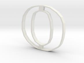 Typography Pendant O in White Natural Versatile Plastic