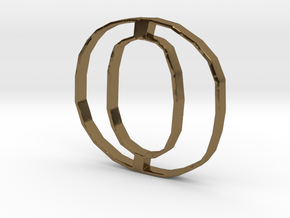 Typography Pendant O in Polished Bronze
