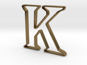 Typography Pendant K in Polished Bronze