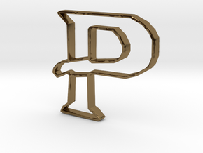 Typography Pendant P in Polished Bronze