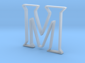 Typography Pendant M in Smooth Fine Detail Plastic