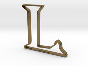 Typography Pendant L in Polished Bronze