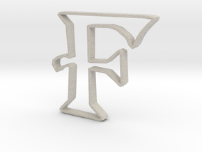 Typography Pendant F in Natural Sandstone