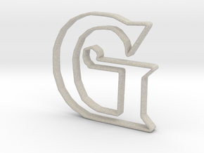 Typography Pendant G in Natural Sandstone