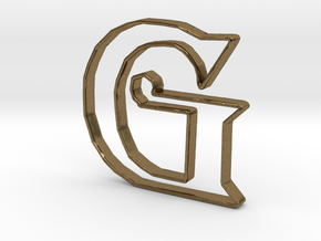 Typography Pendant G in Natural Bronze