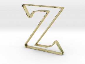 Typography Pendant Z in 18k Gold Plated Brass