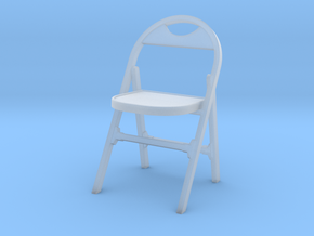 1:24 Vintage Folding Chair in Smooth Fine Detail Plastic