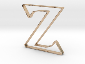 Typography Pendant Z in 14k Rose Gold