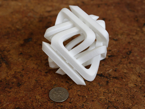 Di Tetrahedron in White Strong & Flexible Polished