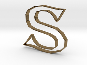 Typography Pendant S in Polished Bronze