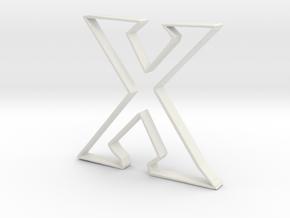 Typography Pendant X in White Natural Versatile Plastic
