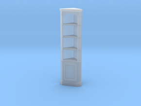 1:24 Corner Cabinet, Tall in Smooth Fine Detail Plastic