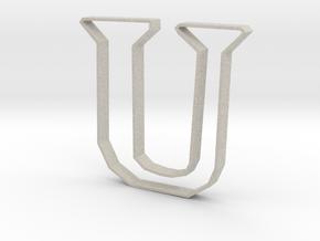 Typography Pendant U in Natural Sandstone