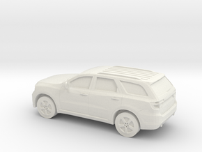 1/64 2011 Dodge Durango in White Natural Versatile Plastic