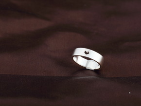 simple heart ring in Fine Detail Polished Silver
