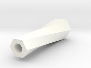 Rollie Tip in White Processed Versatile Plastic