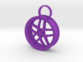 Car Rim in Purple Processed Versatile Plastic