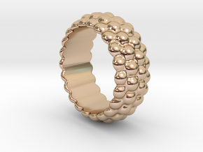 Big Bubble Ring 19 - Italian Size 19 in 14k Rose Gold Plated Brass