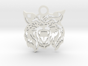 Bobcat amulet in White Natural Versatile Plastic