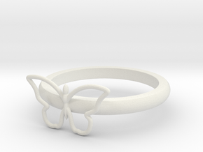 Butterfly Serviette Ring in White Natural Versatile Plastic