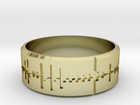 Amen, Brother - Amen Break Ring (size R 1/2)  in 18k Gold Plated Brass