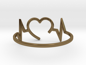 Size 7 Heartbeat in Polished Bronze