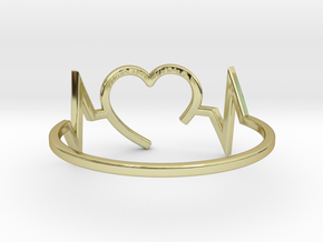 Size 7 Heartbeat in 18k Gold Plated Brass