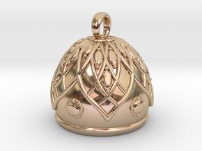 Flower Bell Pendant in 14k Rose Gold Plated Brass