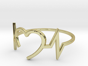 Size 9 Heartbeat in 18k Gold Plated Brass