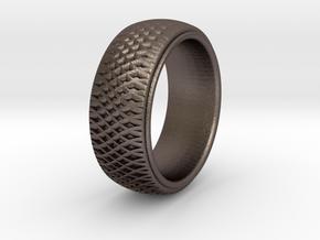 Braid Pattern 5 SIZE 10.5 in Polished Bronzed Silver Steel