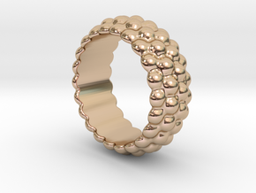 Big Bubble Ring 29 - Italian Size 29 in 14k Rose Gold Plated Brass
