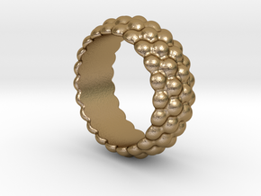 Big Bubble Ring 29 - Italian Size 29 in Polished Gold Steel