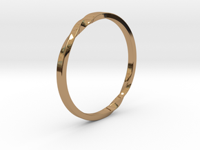 Infinity Ring in Polished Brass: 5 / 49