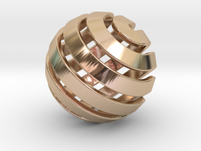 Ball-14-3 in 14k Rose Gold Plated Brass