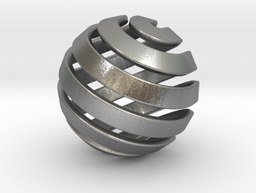 Ball-14-2 in Natural Silver