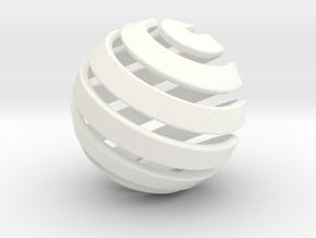 Ball-14-2 in White Processed Versatile Plastic