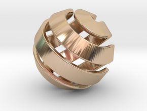 Ball-10-2 in 14k Rose Gold Plated Brass