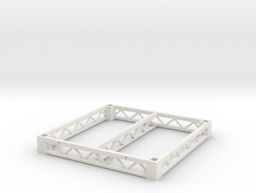 1:25 Platform 4x4, frame only in White Natural Versatile Plastic