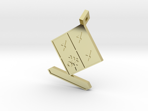 Chemistry lovers - Cool NFPA 704 - 1 Bug in 18k Gold Plated Brass