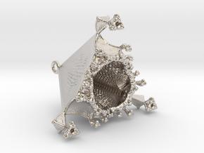 Tetrahedral Love Container Pendant in Platinum