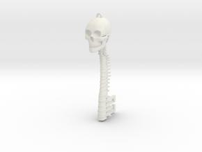 Skeleton Key in White Natural Versatile Plastic