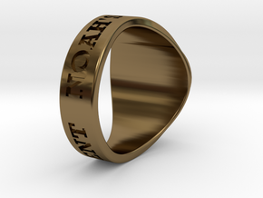 Buperball Opponent Ring Season 5 in Polished Bronze